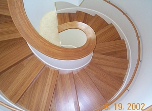 Vertical Cut Bamboo Carbonized Stairwell BFVC3